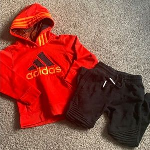 Adidas sweatshirt and sweatpants